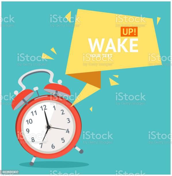 Väckarklocka Med Bubbla Tal Card Vektor-vektorgrafik och fler bilder på Abstrakt
