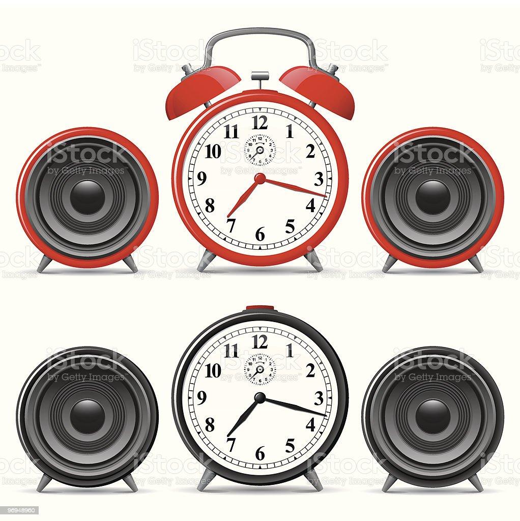 Alarm clock with speakers royalty-free alarm clock with speakers stock vector art & more images of alarm clock