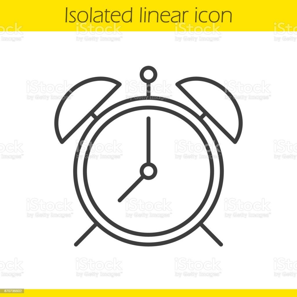 Alarm clockicon vector art illustration
