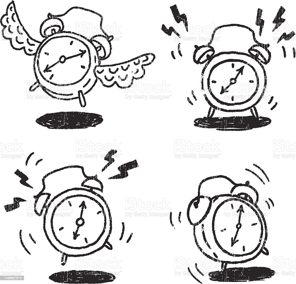Alarm clocks vector art illustration