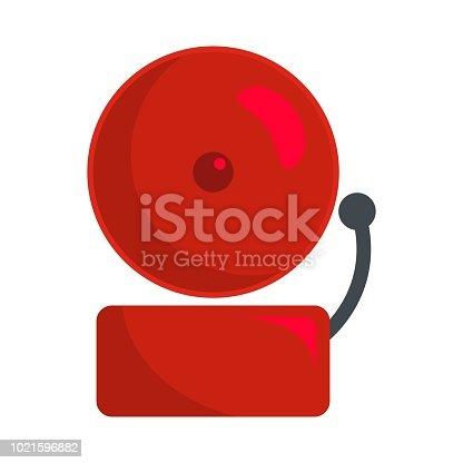 Alarm icon. Flat illustration of alarm vector icon for web