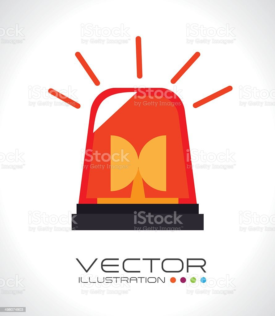 alarm siren design vector art illustration