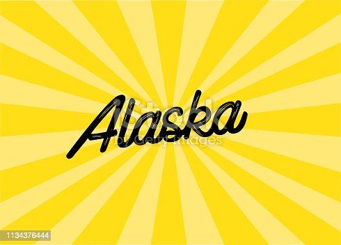 Alaska Lettering Design
