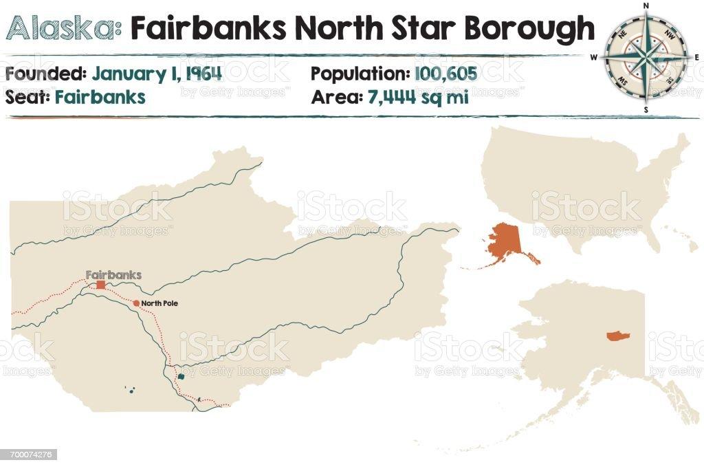 Alaska Map Of Fairbanks North Star Borough Stock Vector Art & More ...
