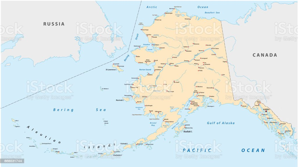 Alaska Map Stock Vector Art More Images of Alaska US State