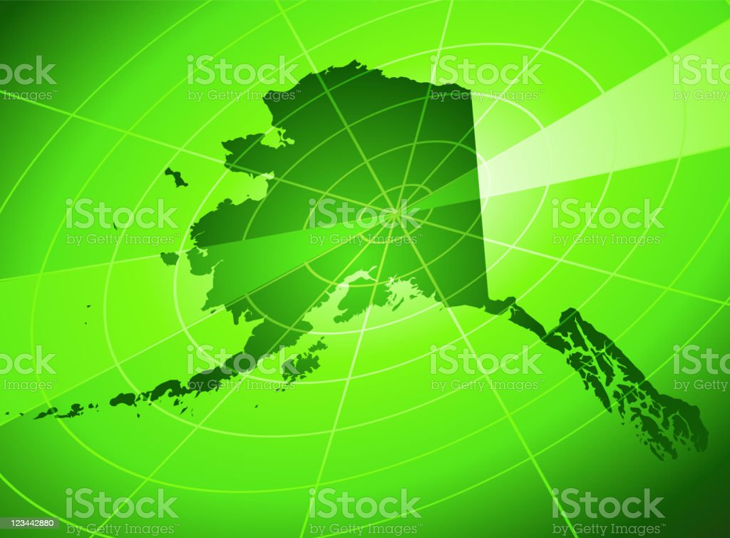 Alaska radar Background royalty-free stock vector art