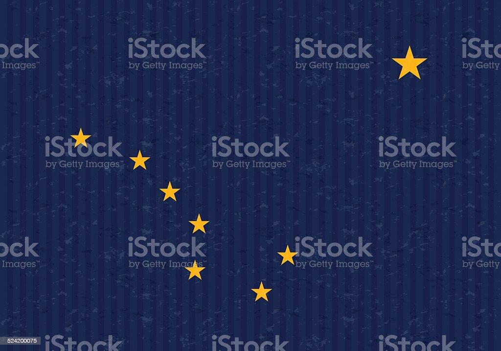 Alaska state flag vector art illustration