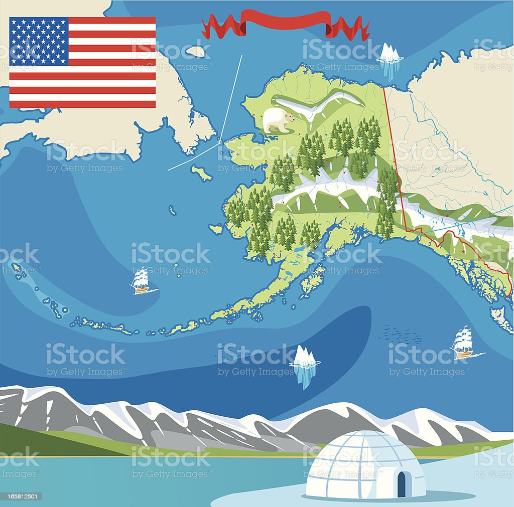 Alaska royalty-free stock vector art