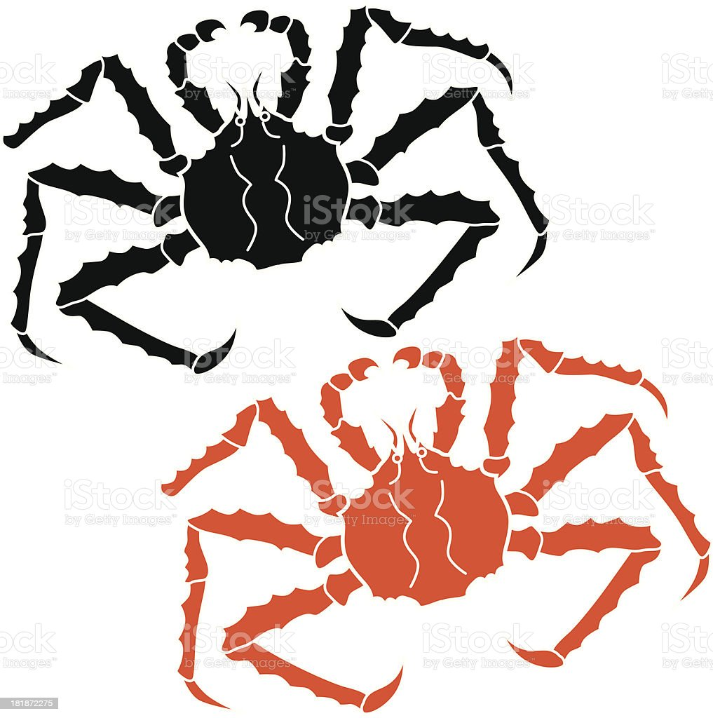 Alaskan king crab royalty-free stock vector art