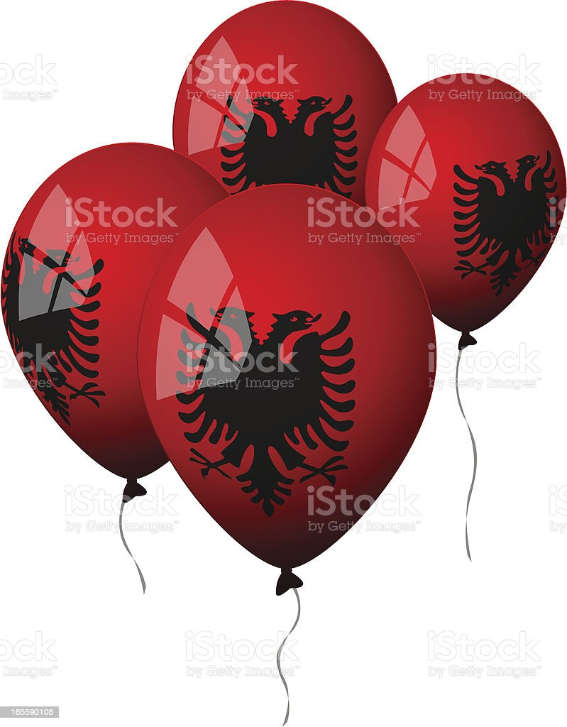Albania - Balloons royalty-free stock vector art