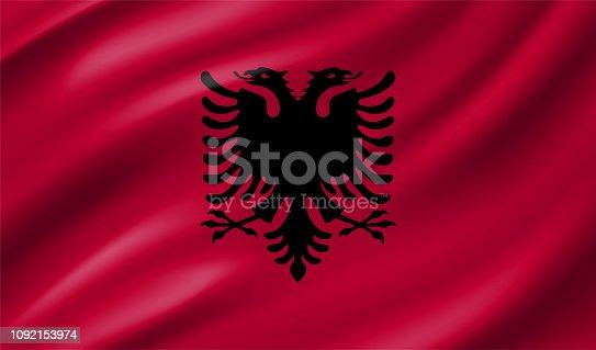 istock Albania Flag 1092153974