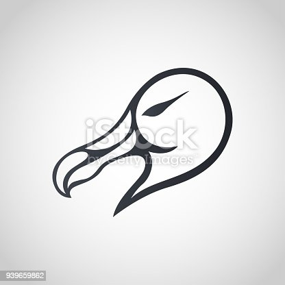 Albatross symbol icon design, vector illustration