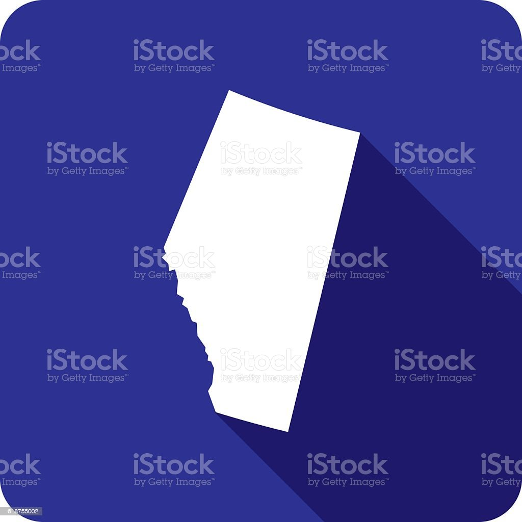 Alberta Icon Silhouette vector art illustration