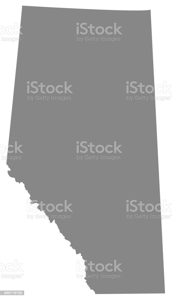 Alberta map vector art illustration