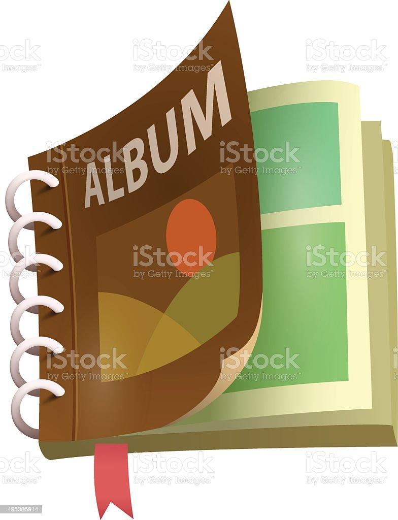 Album icon vector art illustration