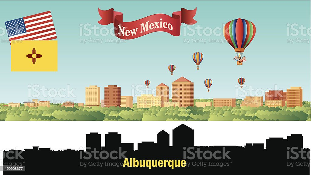 Albuquerque City vector art illustration