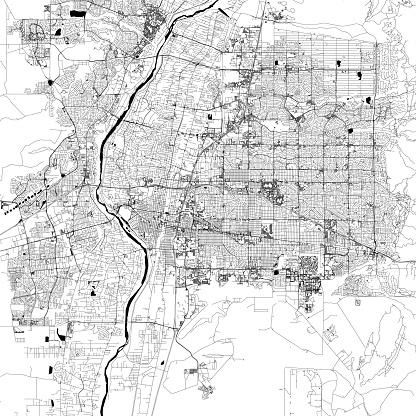 Albuquerque, New Mexico Vector Map