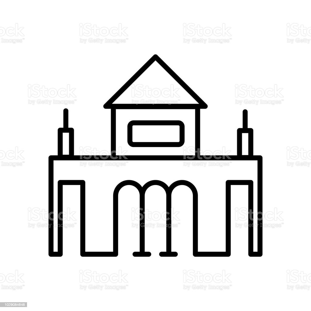 a91b693134a1e Ilustración de Icono De La Puerta De Alcalá Vector Aislado Sobre ...