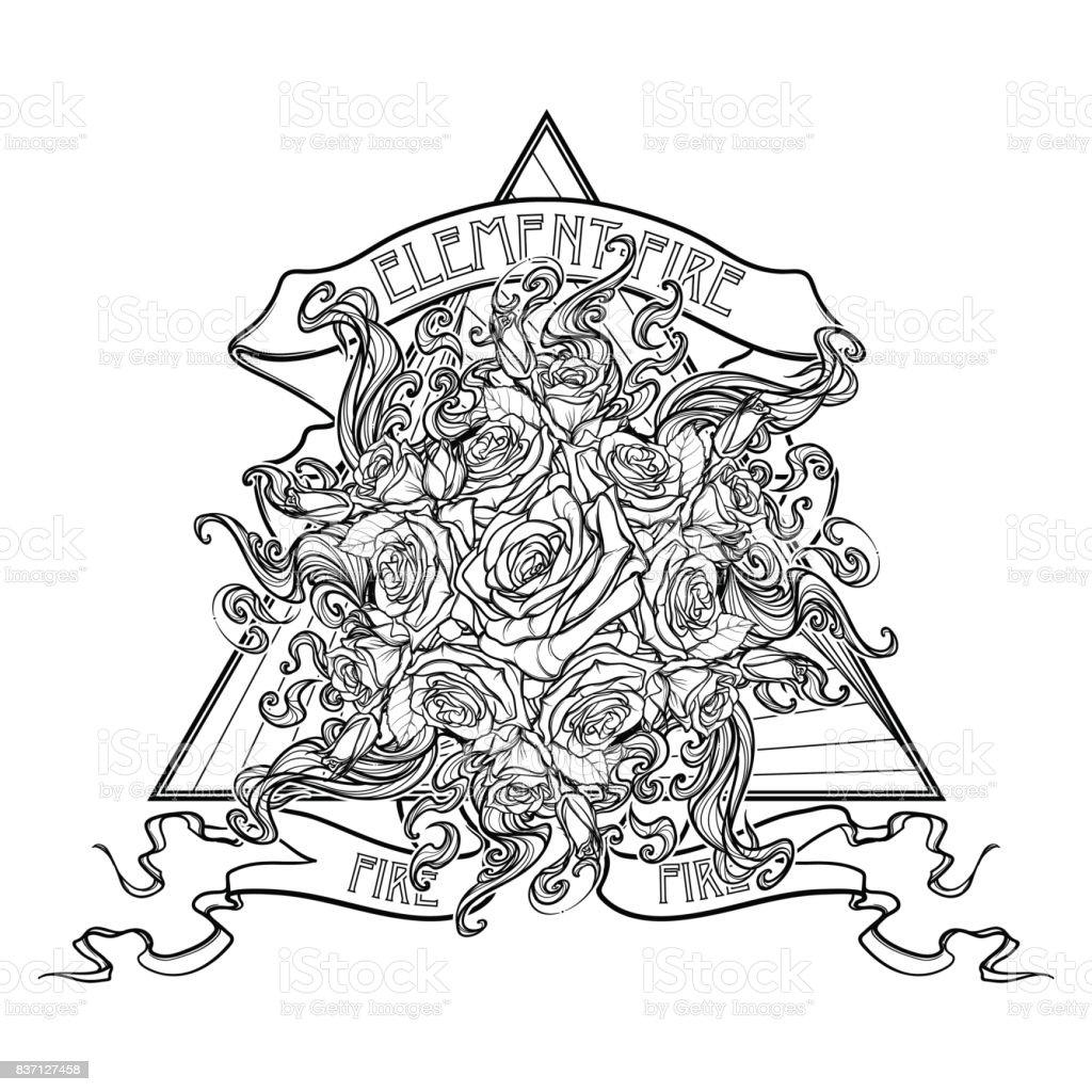 Alchemic Signe De Lelement Du Feu Triangle Pointant Vers Le Haut