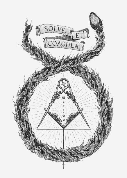 alchemical marriage - lodge member stock illustrations