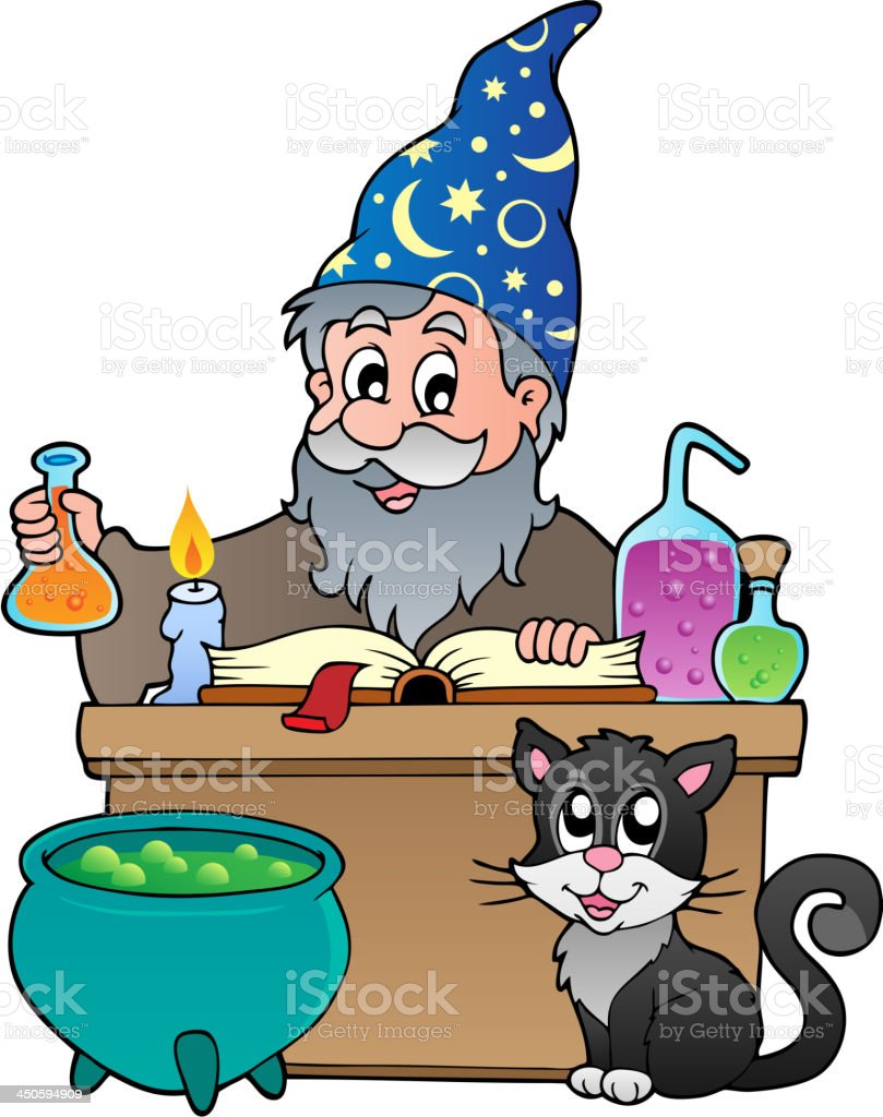 Alchemist theme image 1 royalty-free stock vector art
