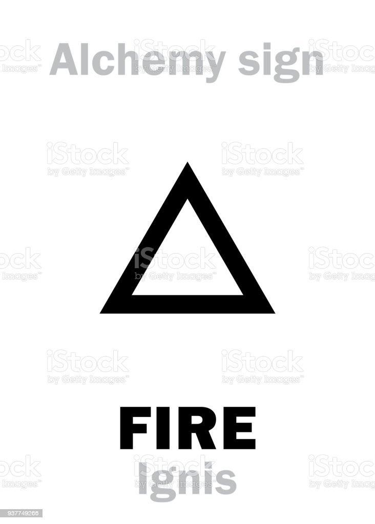 Alchemy Alphabet Fire Stock Vector Art More Images Of Alchemy