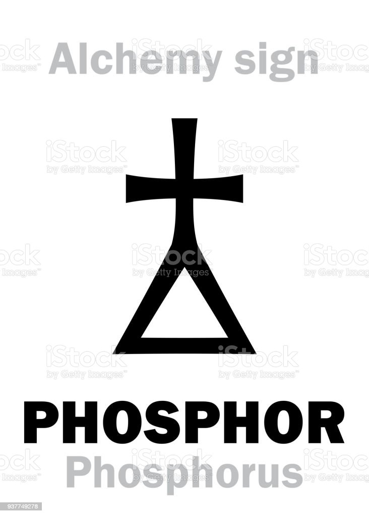 Alchemy Alphabet Phosphor Stock Vector Art More Images Of Alchemy