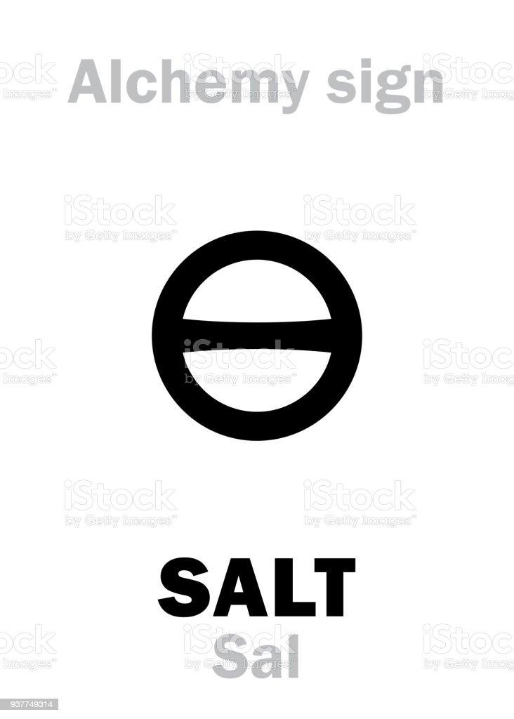 Alchemiealphabet Salz Stock Vektor Art Und Mehr Bilder Von