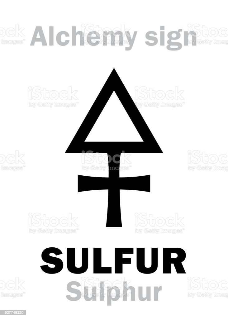 Alchemy Alphabet Sulfur Stock Vector Art More Images Of Alchemy