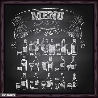 Beer Menu Pub & Bar on Blackboard