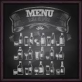 istock Alcohol Beer Menu on Chalkboard 924862606