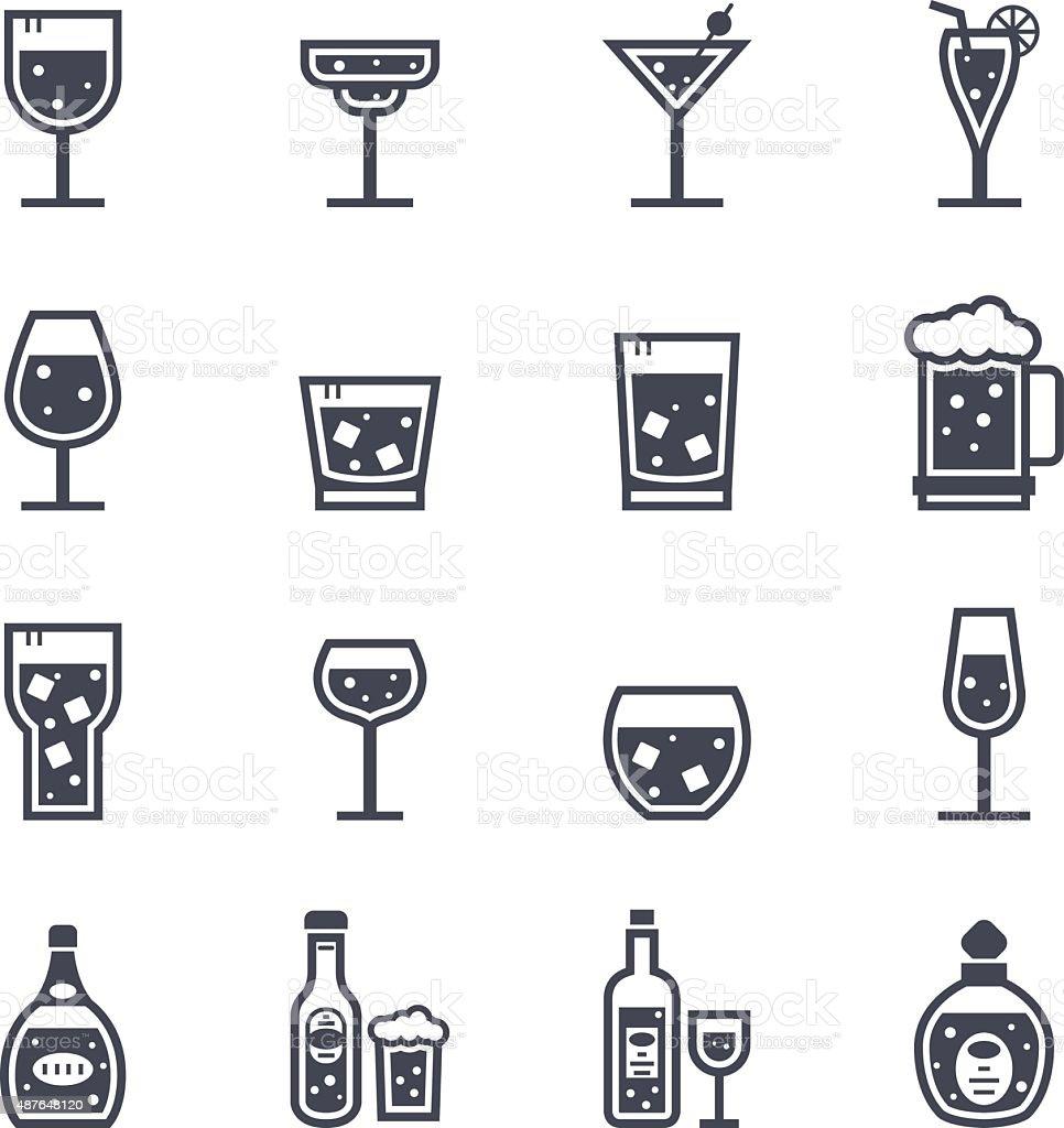 Alcol bevanda icona - illustrazione arte vettoriale
