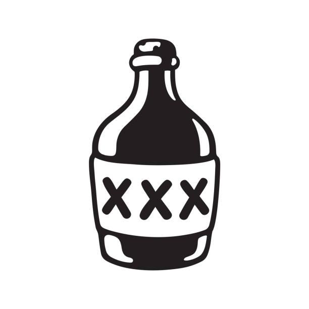 xxx 알콜 병 - prohibition stock illustrations