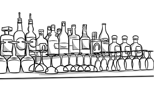 Alcohol Bottles And Glasses