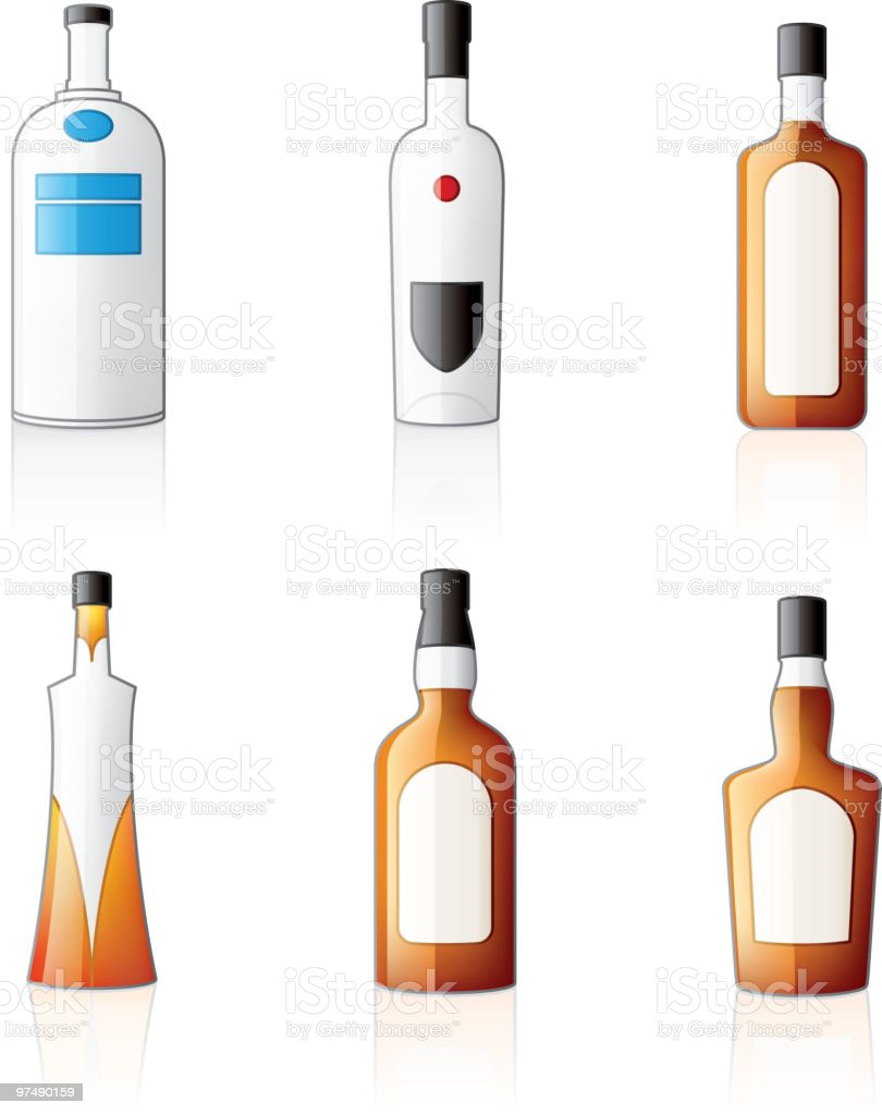 Alcohol Bottles Icons Set royalty-free alcohol bottles icons set stock vector art & more images of alcohol