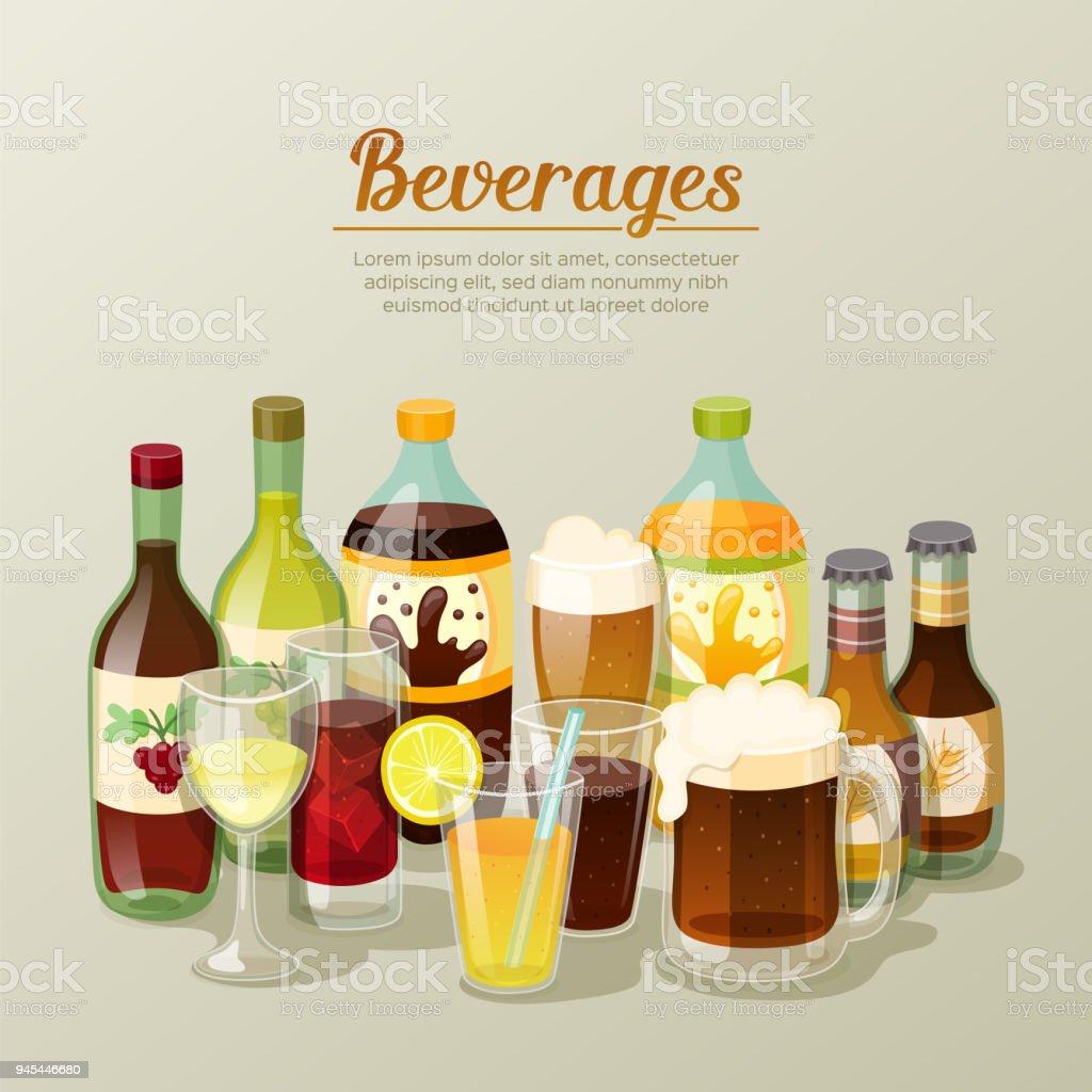 Alkoholische Getränke Und Getränke Stock Vektor Art und mehr Bilder ...