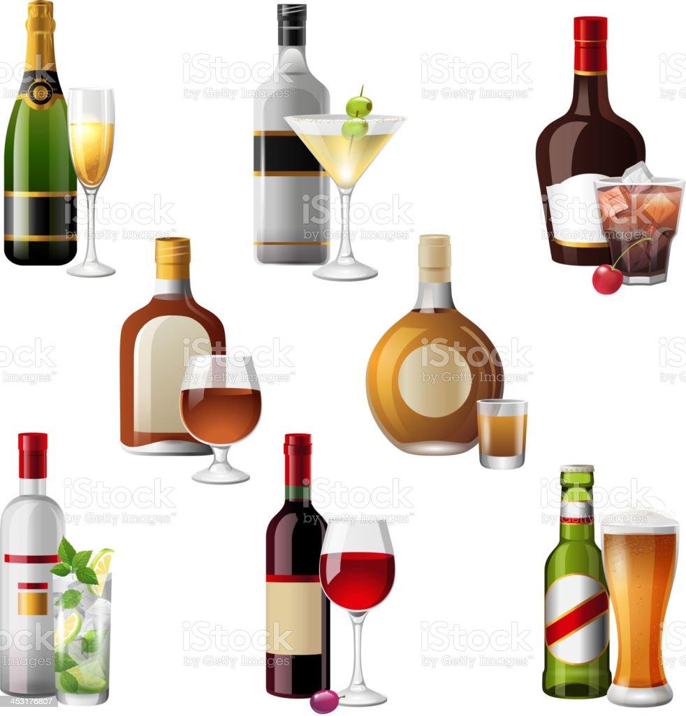 Alkohol Getränke Und Cocktails Stock Vektor Art und mehr Bilder von ...