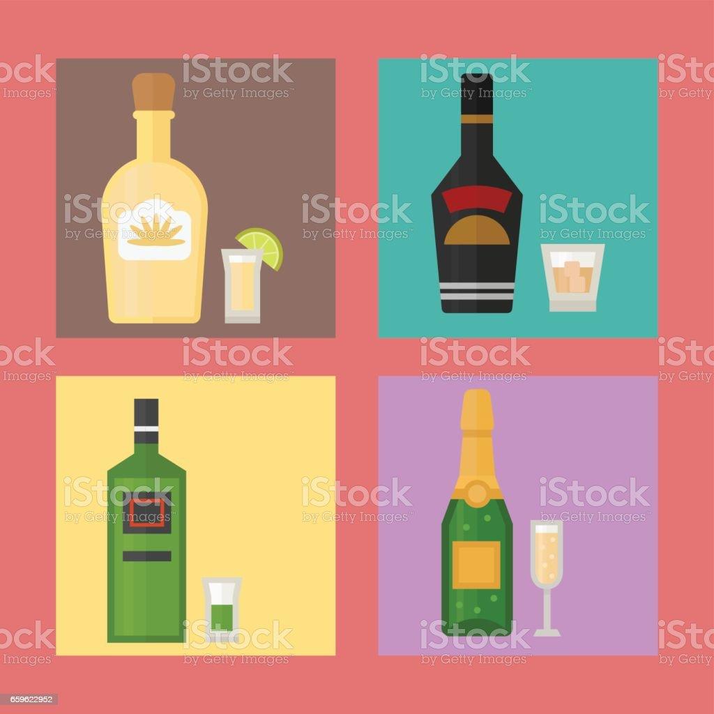 Cocktail Karte.Alkohol Trinkt Getränke Cocktail Karte Flasche Lager Erfrischung