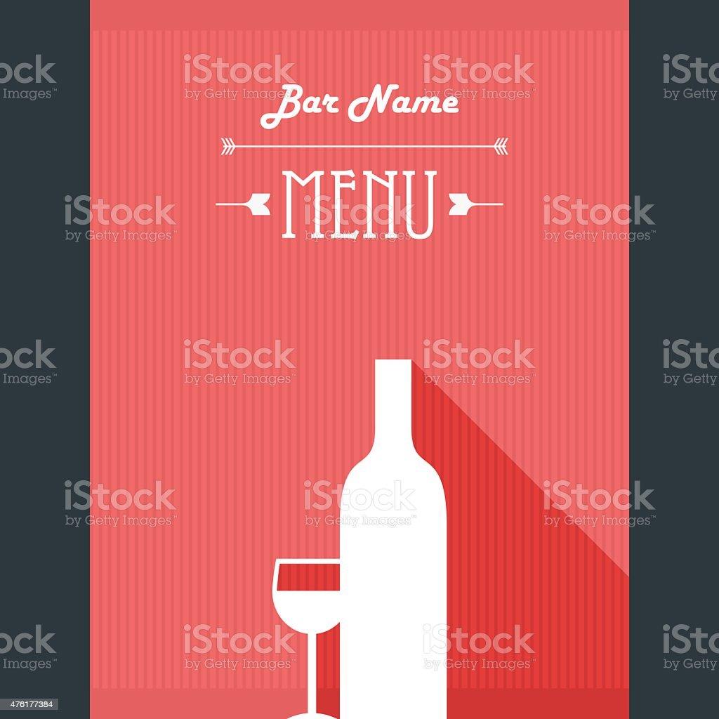 Alkoholische Getränke Restaurantmenüvorlage Bar Hintergrund Mit Glas ...