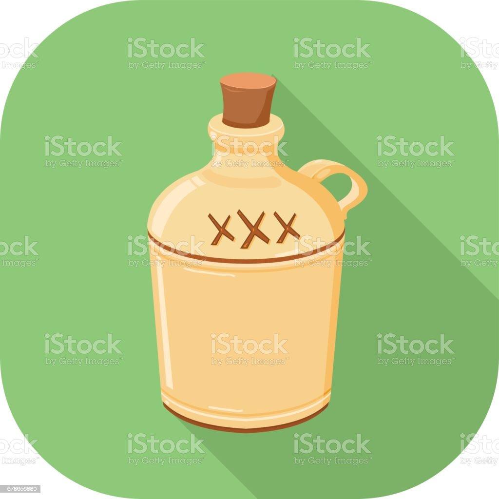Alcohol Flat Icon. vector art illustration