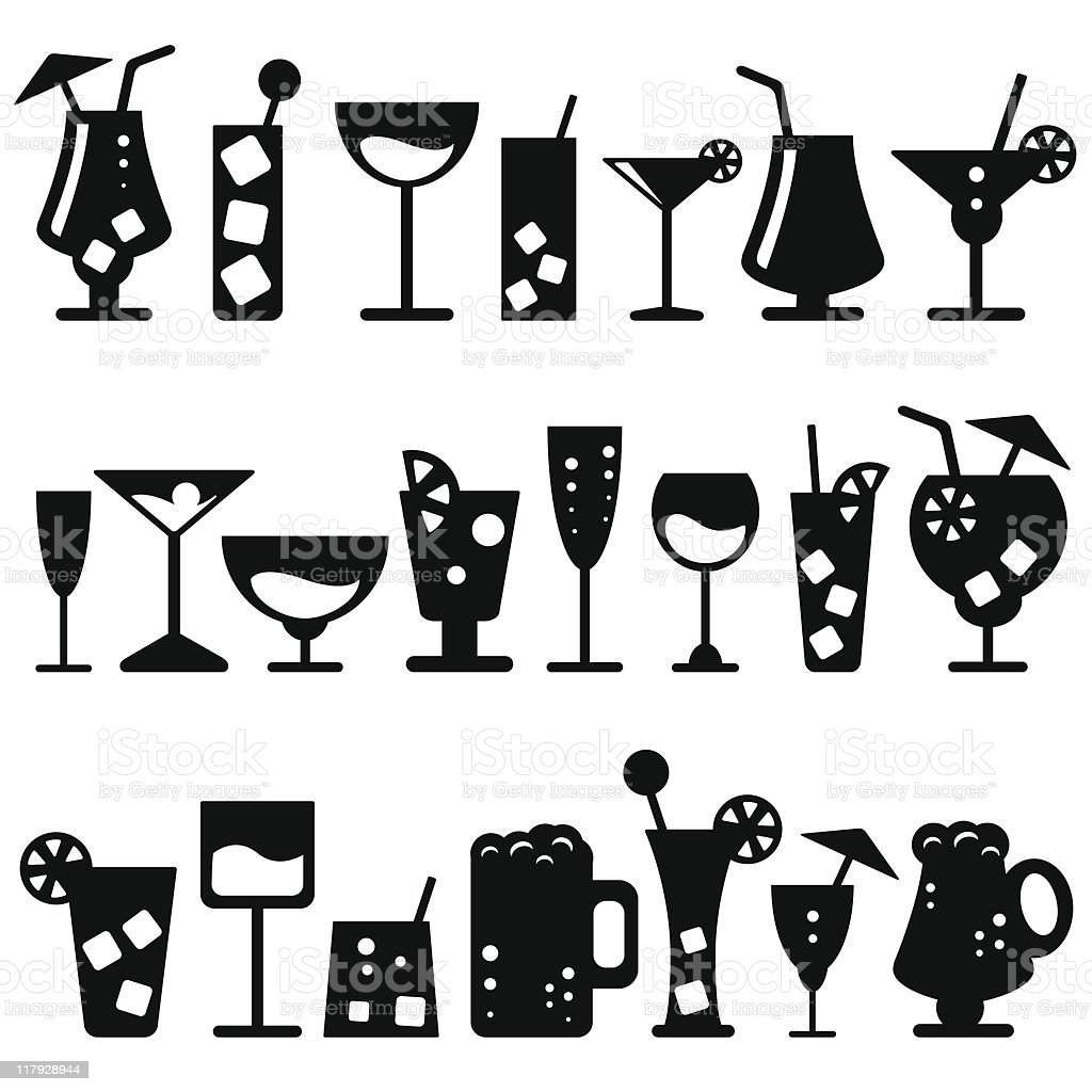 Alcohol Glasses (vector) royalty-free stock vector art