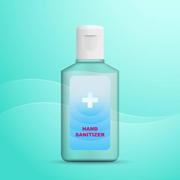 ilustraciones, imágenes clip art, dibujos animados e iconos de stock de botella desinfectante de manos de alcohol. imagen vectorial . - hand sanitizer