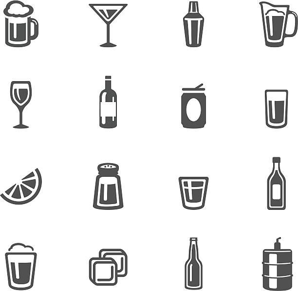 Alkohol Symbole – Vektorgrafik