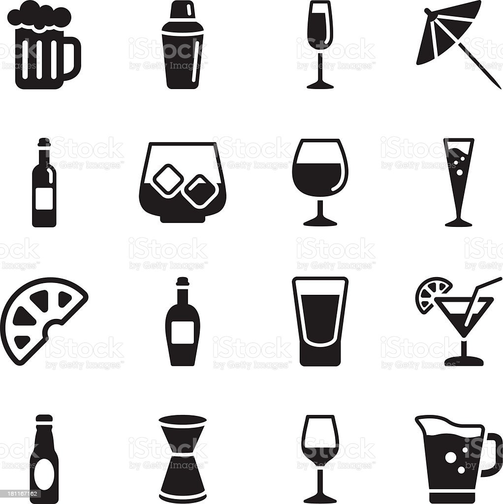 Alcohol Icons royalty-free alcohol icons stock illustration - download image now