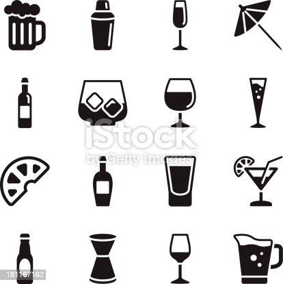 Vector File of Alcohol Icons related vector icons for your design or application.