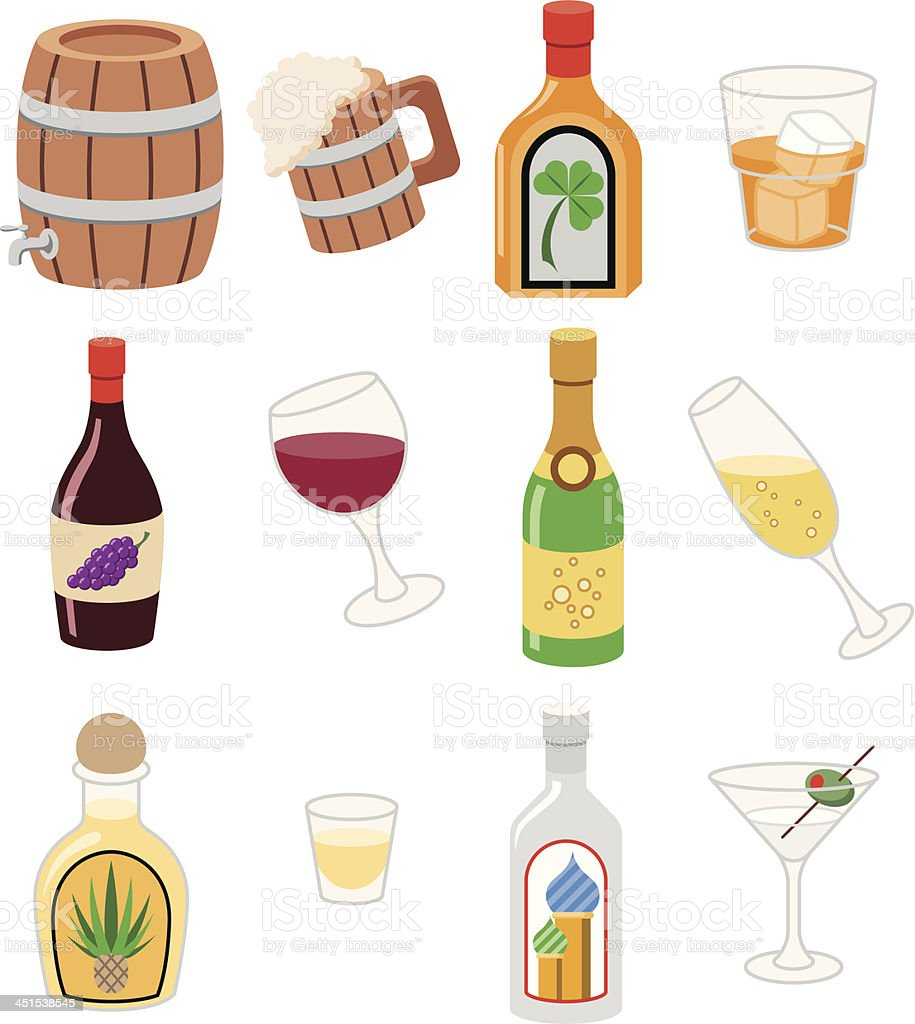 Alcohol Icons royalty-free stock vector art
