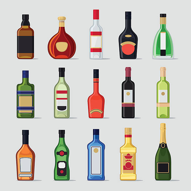 Top 60 Whiskey Bottle Clip Art, Vector Graphics And