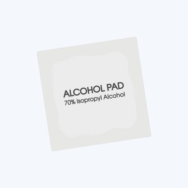 Alcohol wipes icon. Antibacterial formula Alcohol wipes icon. Antibacterial formula rubbing alcohol stock illustrations