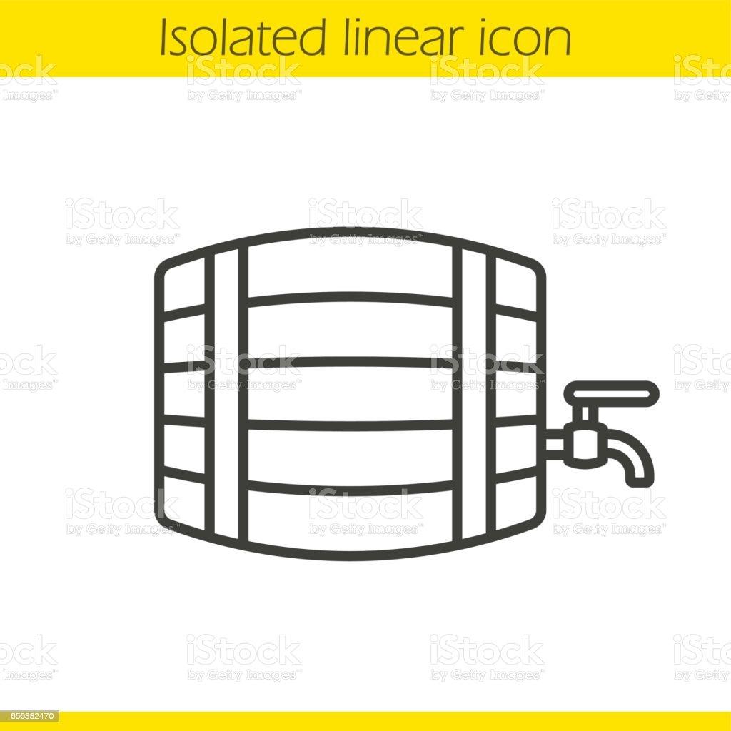 Alcohol wooden barrel icon vector art illustration