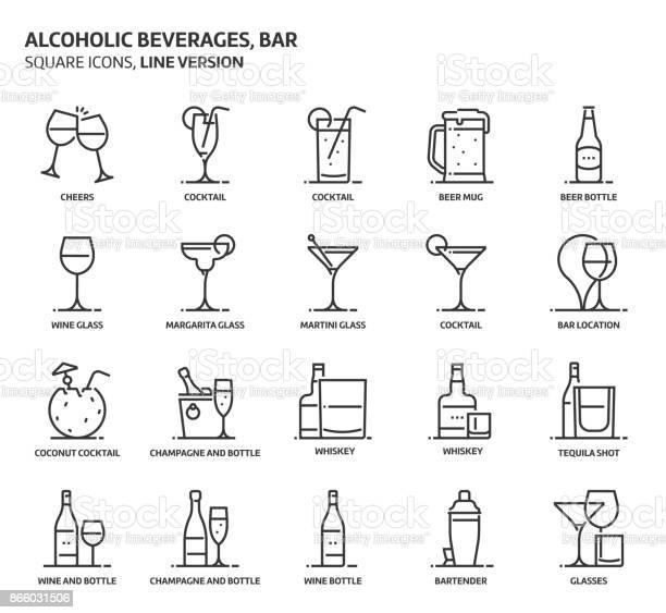 Alcoholic beverages square icon set vector id866031506?b=1&k=6&m=866031506&s=612x612&h=svbzpmiqjahytqzchg1q8oq0et rdlpdynpdd1g3nkm=